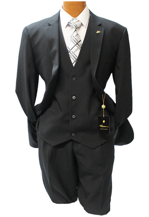 Falcone Czar Black Vested Classic Fit Suit