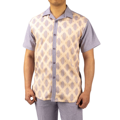 Bruno Conte Pattern Lilac and Tan Walking Suit