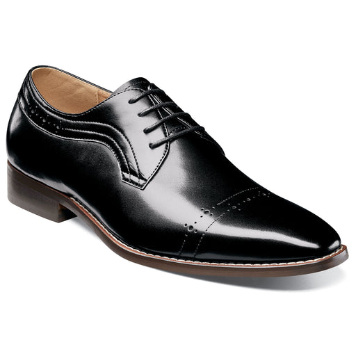Stacy Adams Shallon Black Cap Toe Oxford Dress Shoes