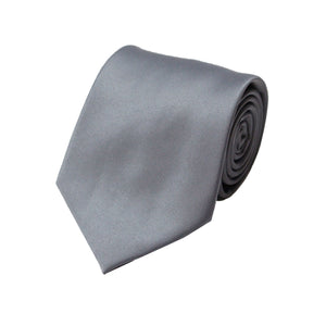 Stacy Adams Solid  Charcoal Tie and Handkerchief