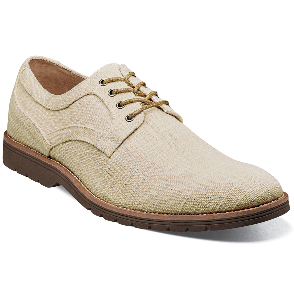 Stacy Adams Eli Cream Plain Toe Oxford