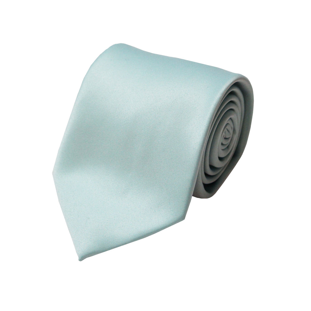 Solid Mint Tie and Handkerchief