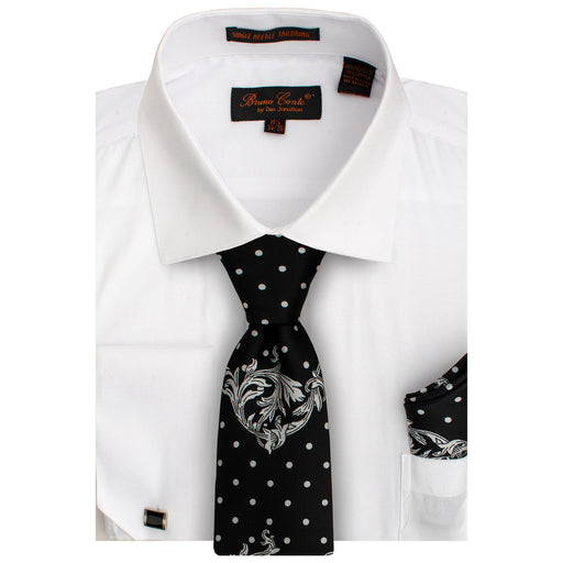 Bruno Conte 1086 White Regular Fit Dress Shirt Combo