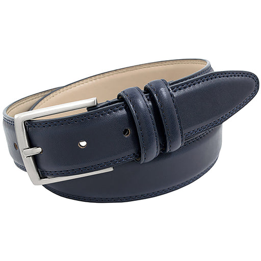 Stacy Adams Tyson Navy Double Strap Genuine Leather Belt