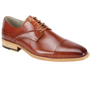Giovanni Hudson Whiskey Cap Toe Dress Shoes