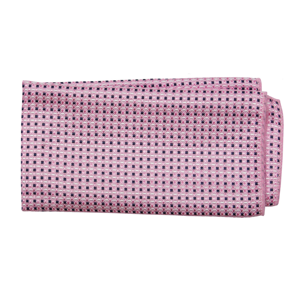 Gianfranco Pink Pattern Tie and Handkerchief