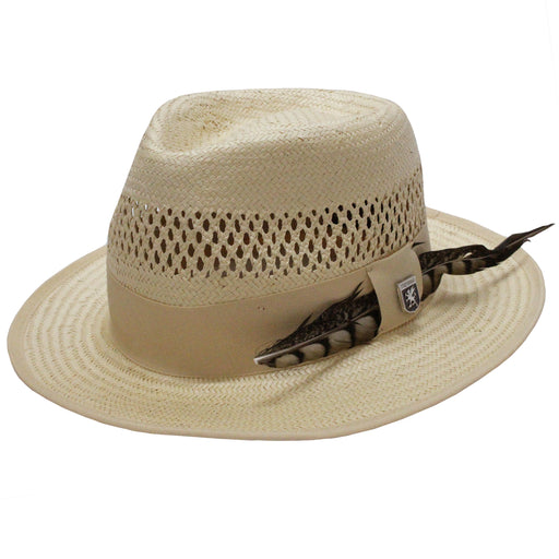 Stacy Adams San Francisco Beige Toyo Fedora Hat
