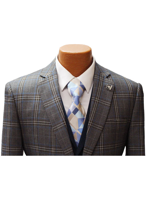 Stacy Adams Town Tan Vested Classic Fit Suit