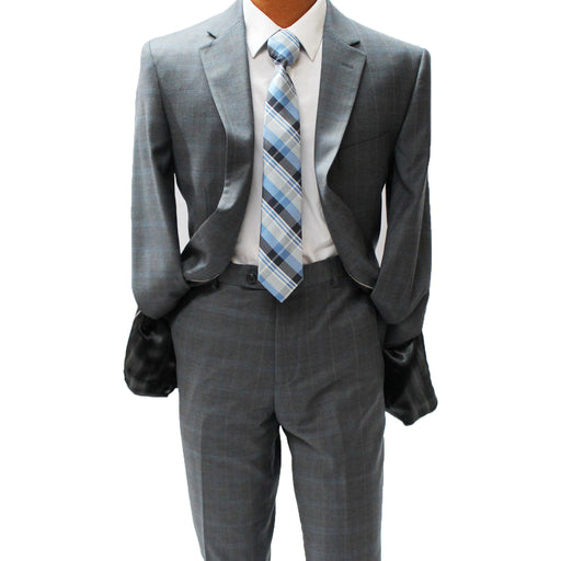 TopLapel Charcoal Modern Fit Suit