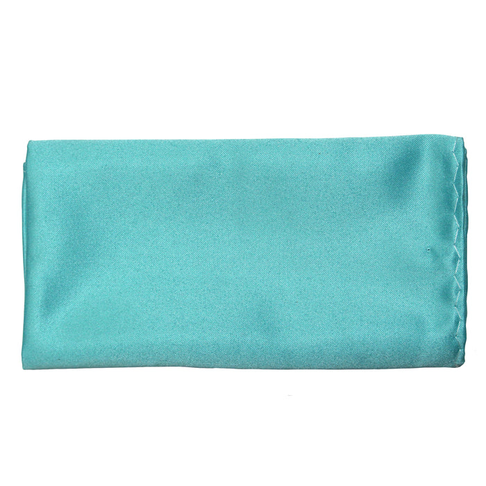Stacy Adams Solid Turquoise Tie and Handkerchief