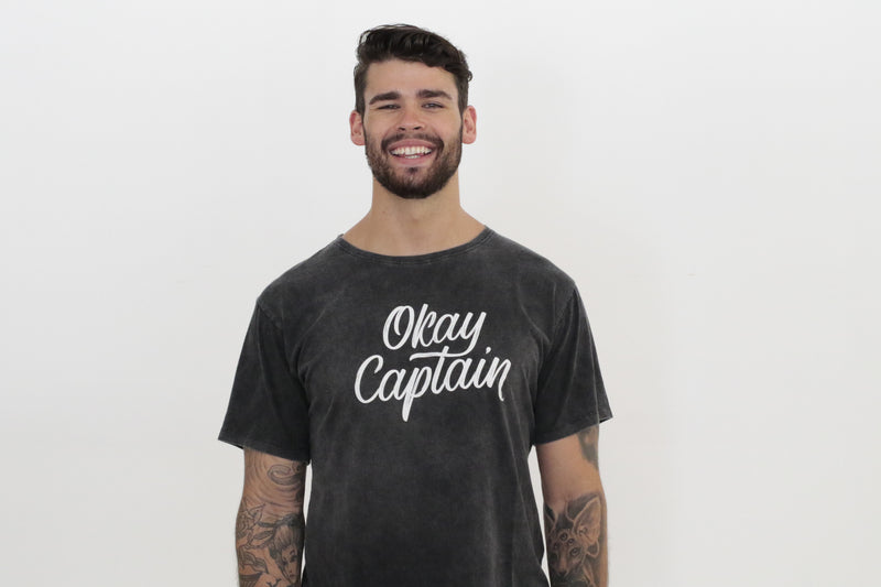 Title Tee - Stone Wash - Okay Captain