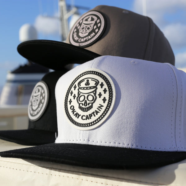 Snapback - White - Okay Captain