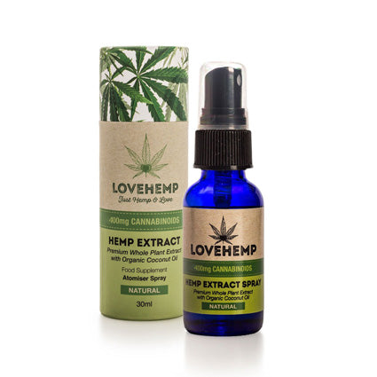 Love Hemp 400mg CBD Oil Spray – 30ml Various Flavours