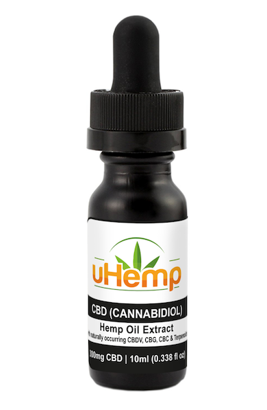 uHemp FULL SPECTRUM Organic Hemp CBD Extract Oil (300mg FS Cannabidiol) 10ml