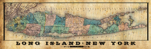 LONG ISLAND TOWNS VINTAGE MAP