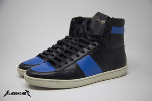 YSL High Top (Black/Blue)