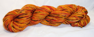 Hand dyed yarn / Fingering Weight / Superwash Merino / Pumpkin Spice