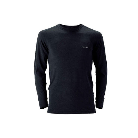 Montbell Mens US Super Merino Wool Middle Weight Round Neck Shirt