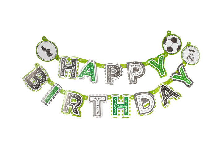 Football Party 'Happy Birthday' Banner