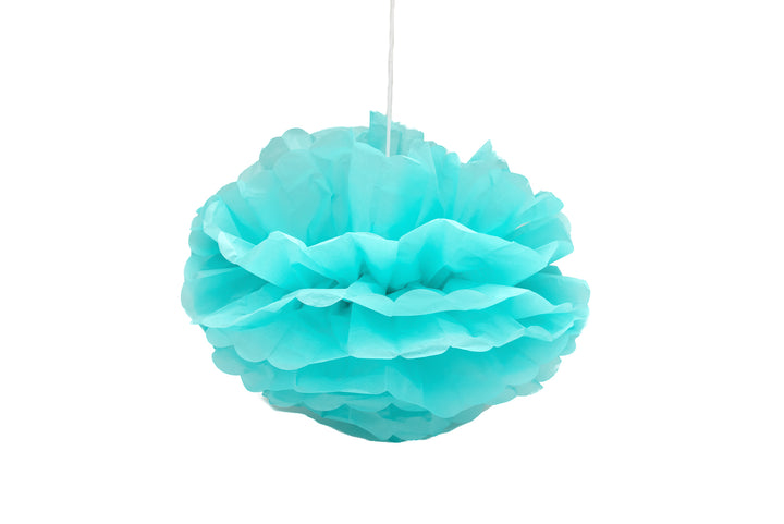 Robin Egg Blue Pom Pom Decorations