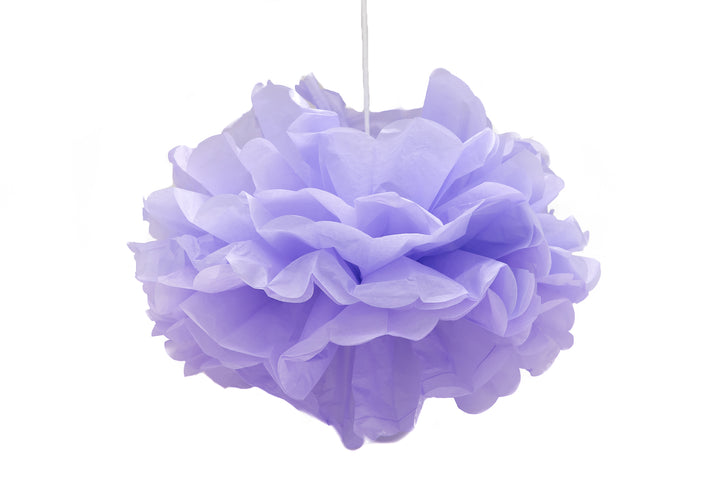 Lilac Pom Pom Decorations