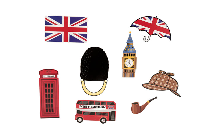 British Photobooth Props/ Backdrop Decorations