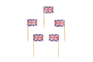 Union Jack Mini Flag Cupcake Picks