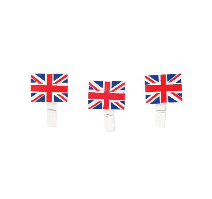 Union Jack Mini Wooden Pegs