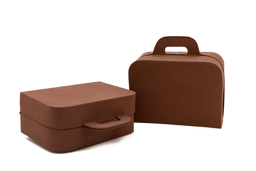 Brown Mache Suitcase