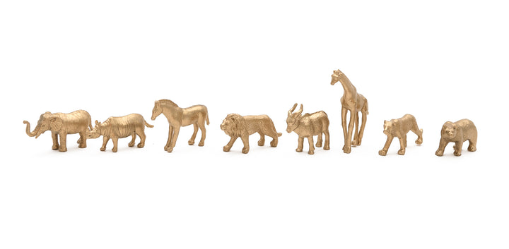 Animal Friends Plastic Jungle Animals in Gold