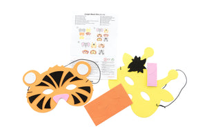 Jungle Animal Foam Mask Kit