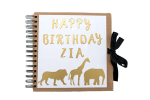 Personalised Guest Book - Safari Theme