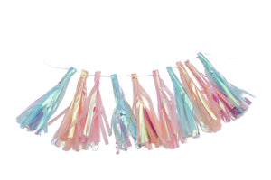 Pastel Mix Iridescent Party Tassel Garland