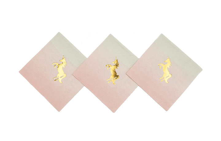 Pastel and Gold Foiled Unicorn Napkins