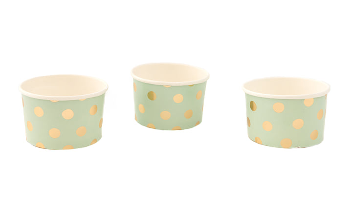 Pick and Mix Mint Green Metallic Polka Treat Tubs
