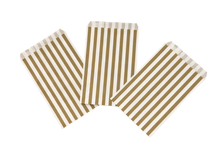 Vintage Lace Gold Stripe Candy Bags
