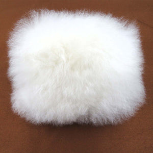 Monedero SIDERAL de Baby Alpaca color Blanco