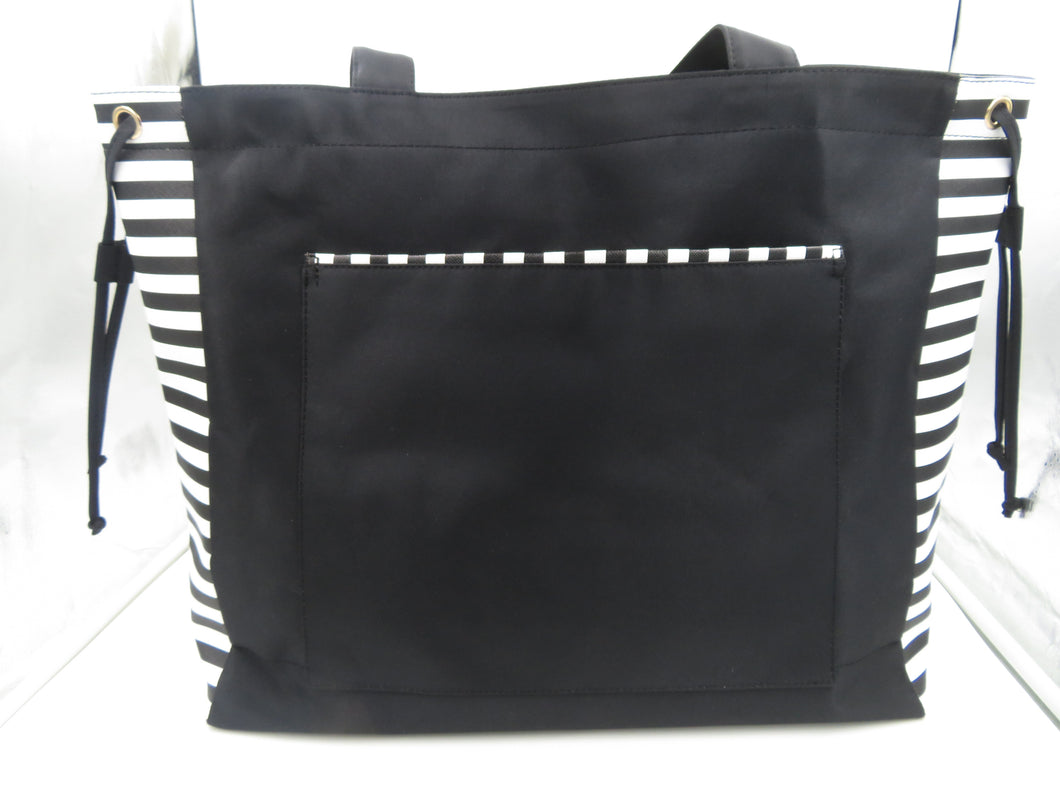 Bolso Shopper o Playero color Negro con rayas