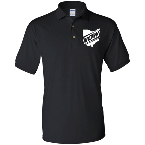 NOW White State G880 Gildan Jersey Polo Shirt