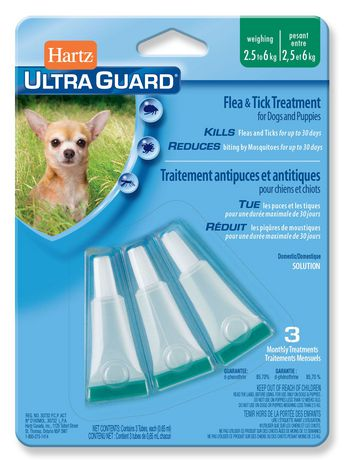 Hartz-UltraGuard Flea&Tick Treatment for Dogs and Puppies 2.5kg to 6kg