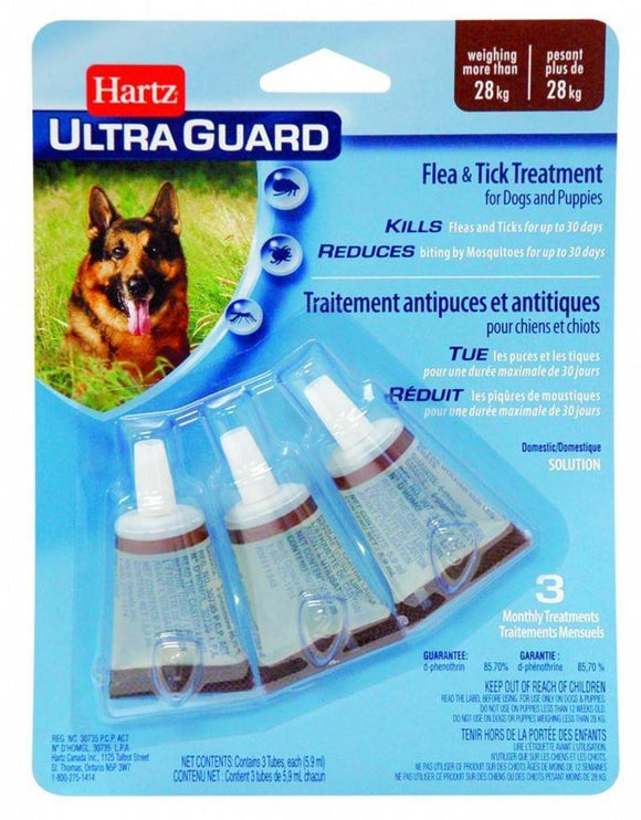 Hartz-UltraGuard Flea&Tick Treatment for Dogs and Puppies more than 28kg