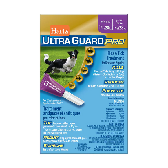 Hartz-Ultra Guard Pro Flea & Tick Treatment for Dogs and Puppies 14 to 28kg