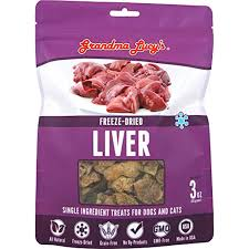 Grandma Lucy's Freeze-Dried Singles Liver Dog & Cat Treats, 2.5oz/71g