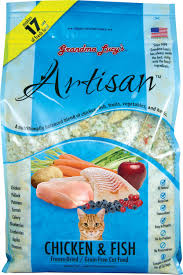 Grandma Lucy's Artisan Grain-Free Chicken & Fish Freeze-Dried Cat Food 1lb/0.45kg
