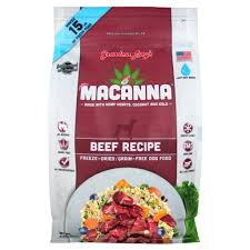 Grandma Lucy's Macanna Beef Recipe Freeze-Dried Grain-Free Dog Food 1lb/0.45kg
