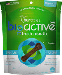 Fruitables BioActive Fresh Mouth Small Dental Chews Dog Treats,  7.3oz/208g