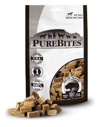 PureBites Bison Liver Freeze-Dried Dog Treats 2.6oz/74g