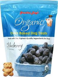 Grandma Lucy's Organic Blueberry Oven Baked Dog Treats, 14oz/397g