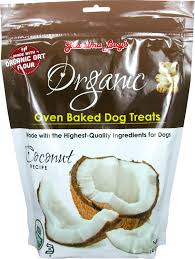 Grandma Lucy's Organic Coconut Oven Baked Dog Treats, 14oz/397g in bag