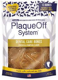PlaqueOff System, Dental Care Bones, Chicken&Pumpkin Flavor, 17oz/482g
